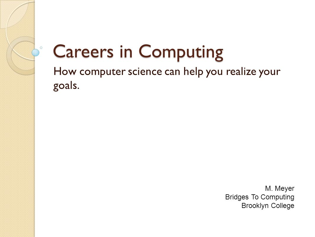 Bridges To Computing General Information: This document was created ...