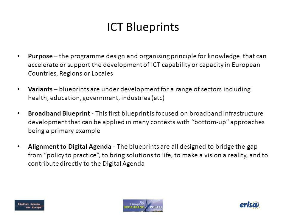 European broadband portal phase ii application of the blueprint for 2 ict blueprints malvernweather Image collections