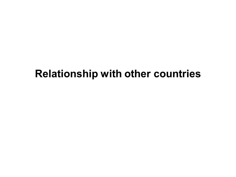 Relationship with other countries