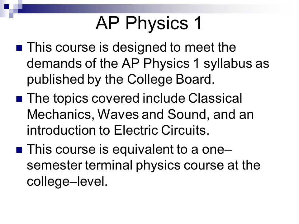 Welcome to Open House AP Physics 1 Mr  Kuffer  Physics