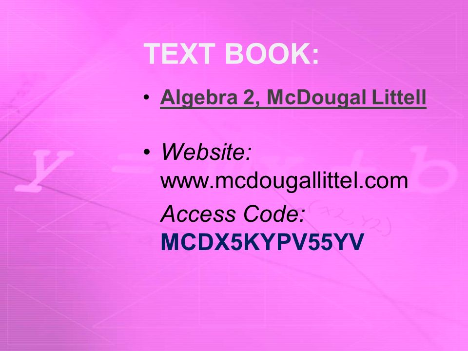 WELCOME TO ALGEBRA 2 Mrs Shattuck Room Ppt Download