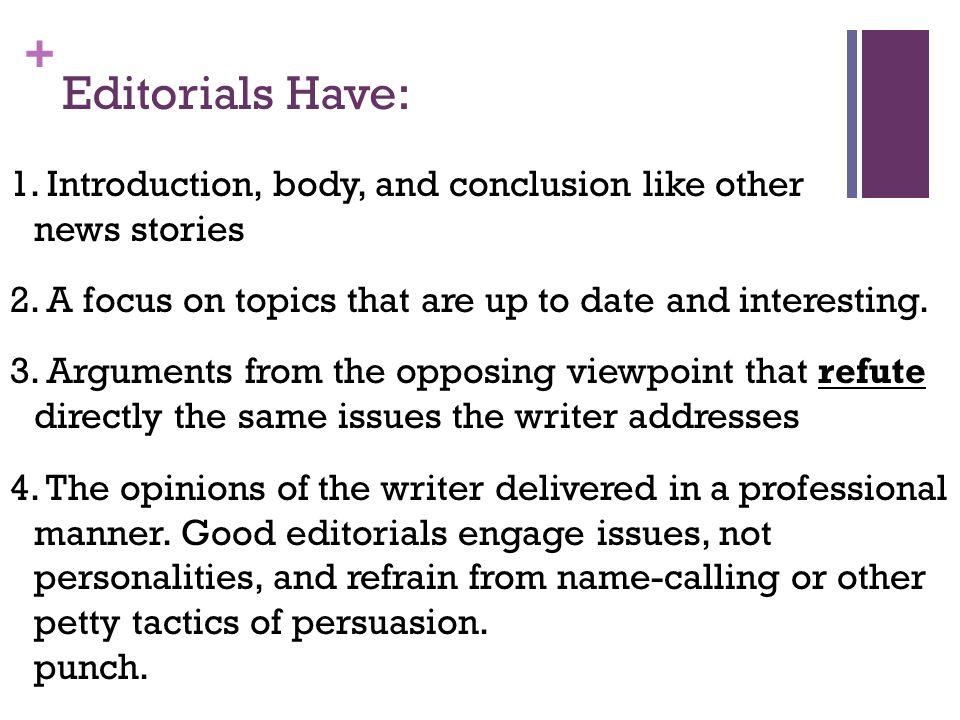 editorial writing topics
