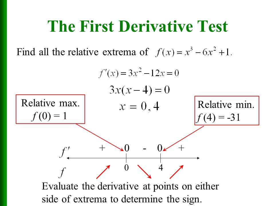 Calculus Date 12 17 13 Obj Swbat Apply First Derivative Test First Derivative Test Inc Dec Today Ppt Download