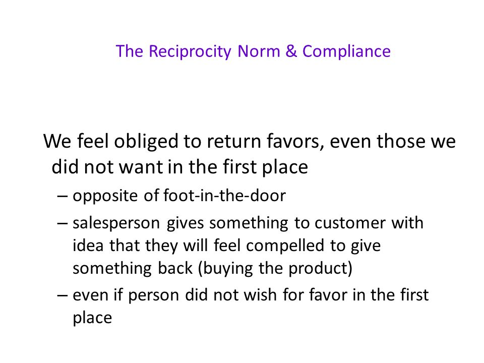 Compliance And Persuasion Small Request Large Request In The