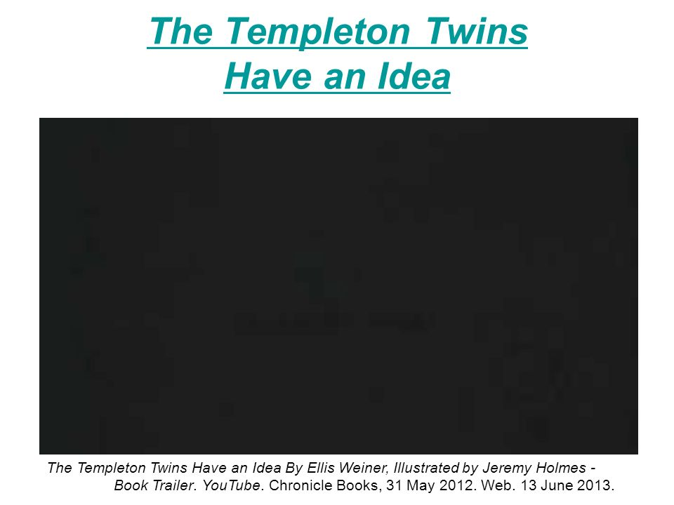 Summer reading requirements 2 books of your choice fiction or non the templeton twins have an idea the templeton twins have an idea by ellis weiner fandeluxe Images