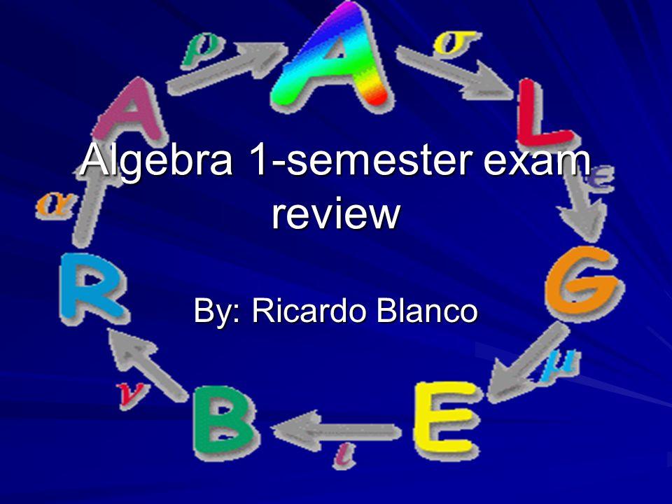 pre algebra second semester exam review