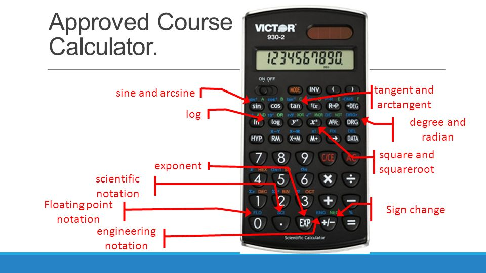 Math for electronics 7/29/2014. Approved course calculator. Sine.