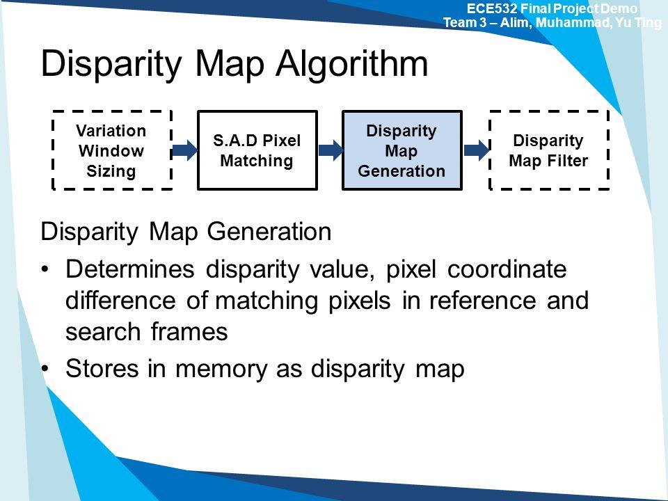 ECE532 Final Project Demo Disparity Map Generation on a FPGA