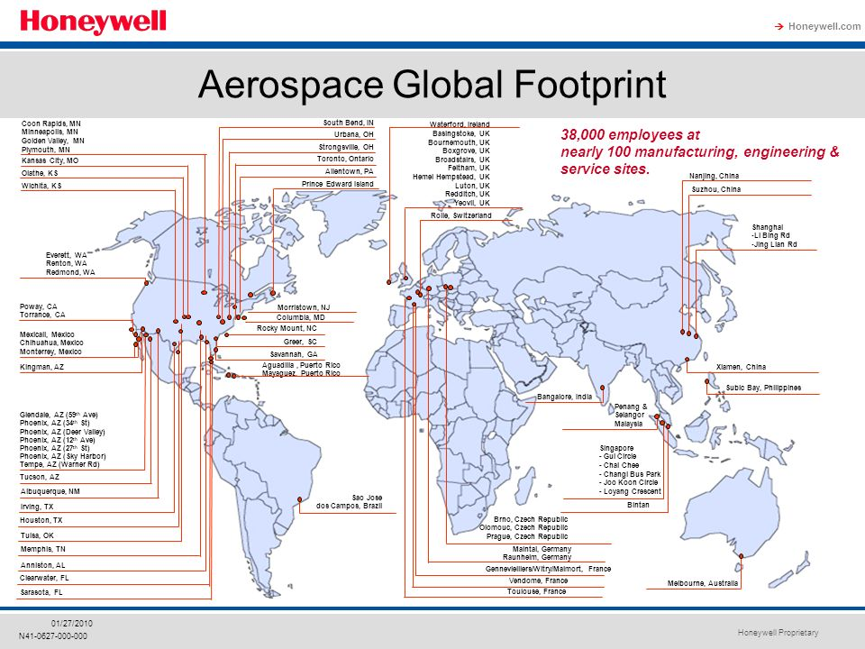Honeywell Proprietary Honeywell com  N /27/2010 Aerospace