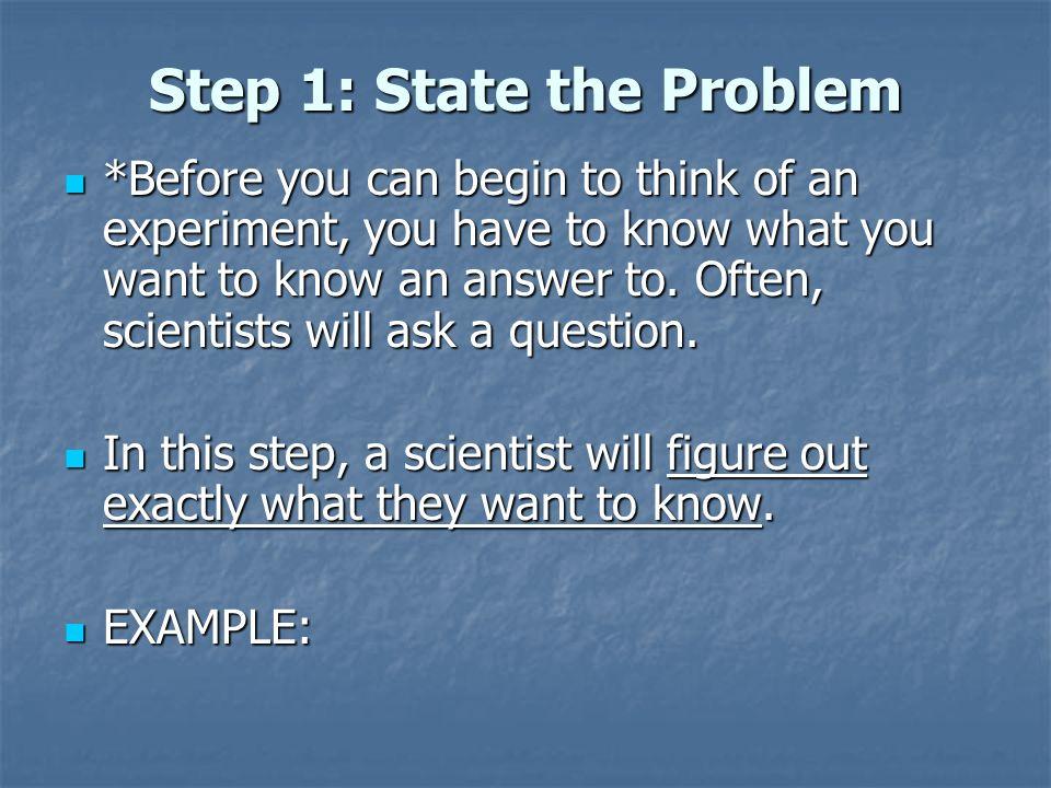 example of problem solving using scientific method