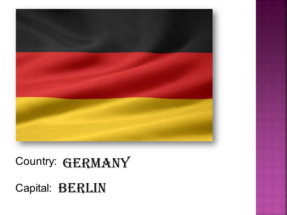 Country: Capital: Germany Berlin