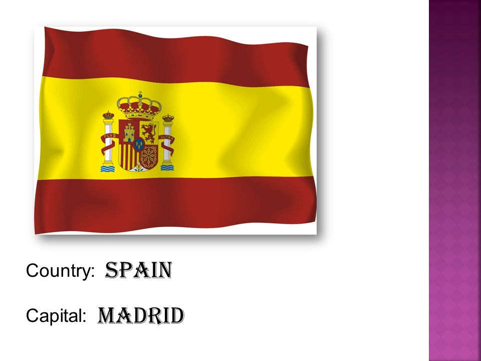 Country: Capital: Spain Madrid