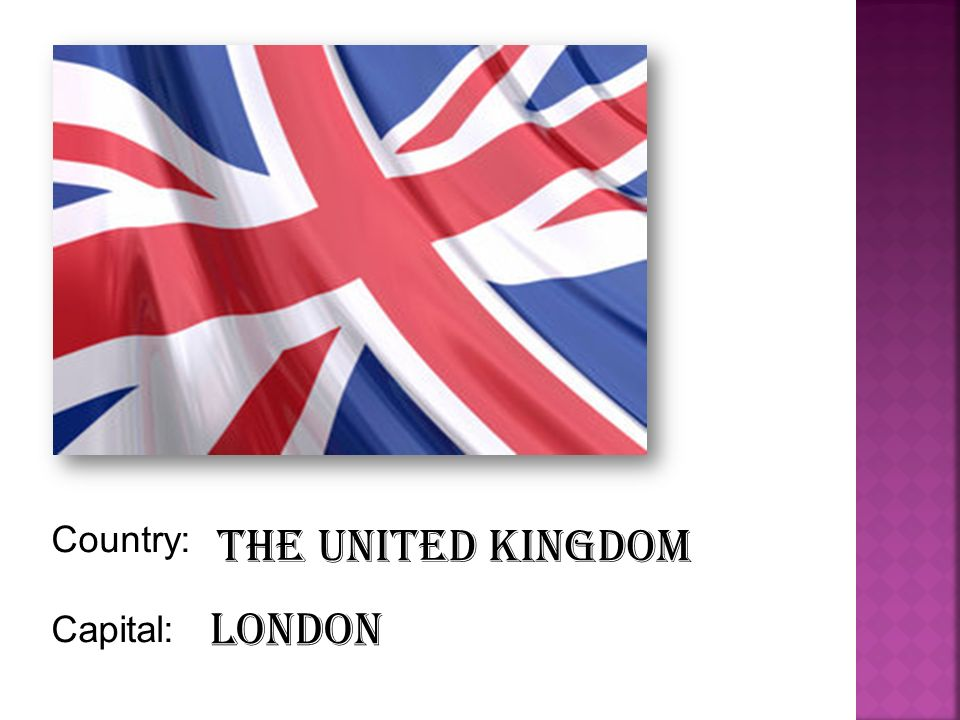 Country: Capital: The United Kingdom London