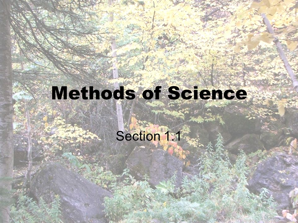 Methods of Science Section 1.1