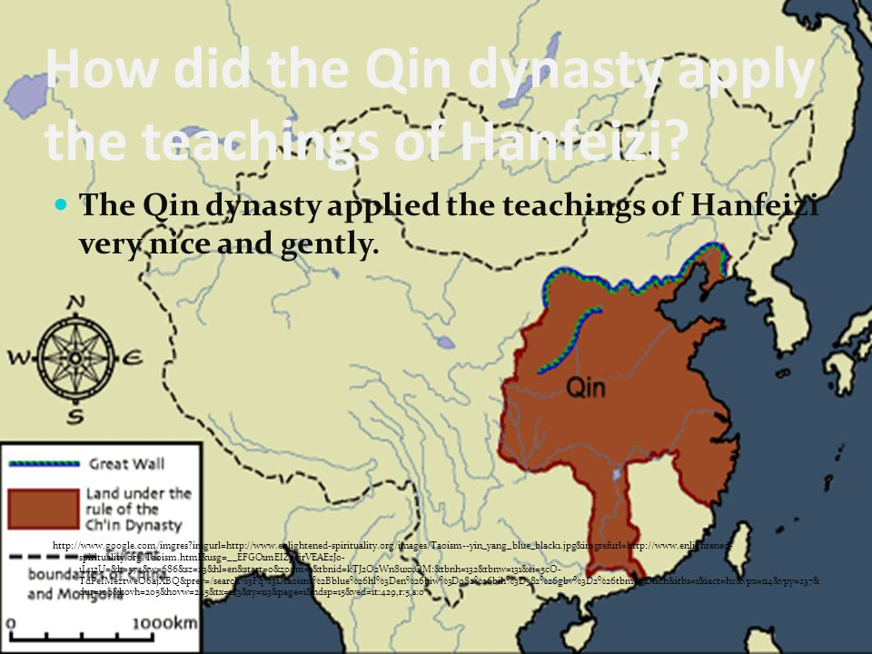 How did the Qin dynasty apply the teachings of Hanfeizi.