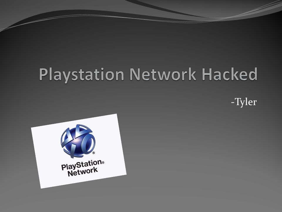 Tyler  Social/Ethical Concern Security -Sony's Playstation
