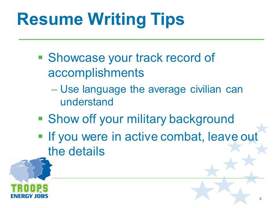 2 how to write a military resume define your civilian job