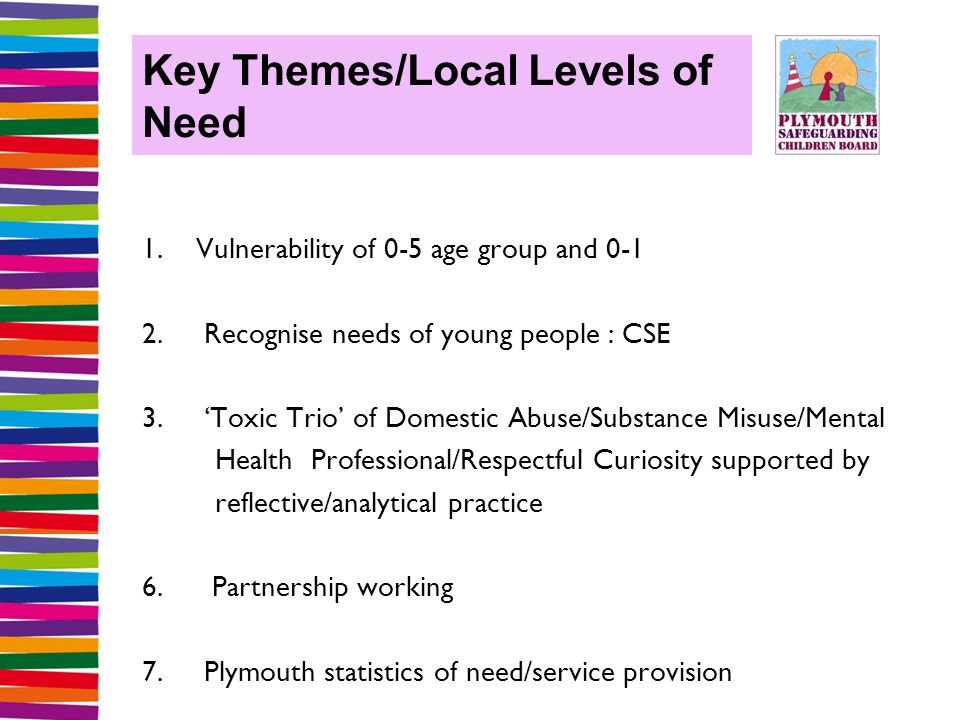 Key Themes/Local Levels of Need 1. Vulnerability of 0-5 age group and