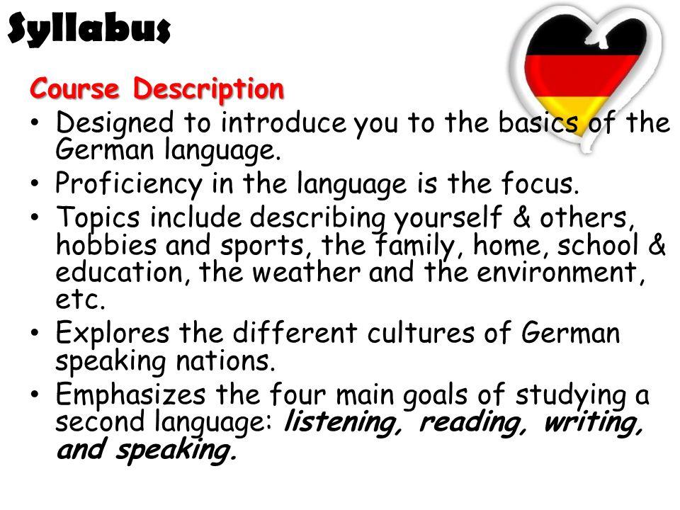 syllabus deutsch