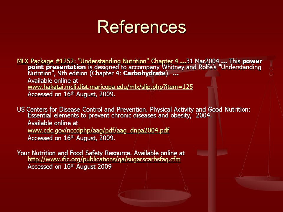 References MLX Package #1252: Understanding Nutrition Chapter 4...MLX Package #1252: Understanding Nutrition Chapter Mar