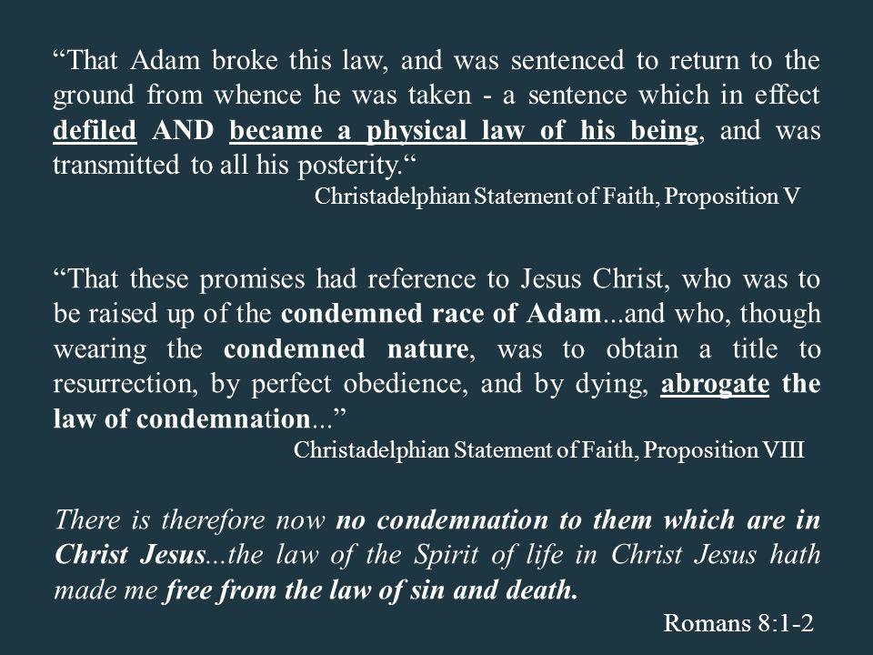 CHRISTADELPHIAN STATEMENT OF FAITH PDF