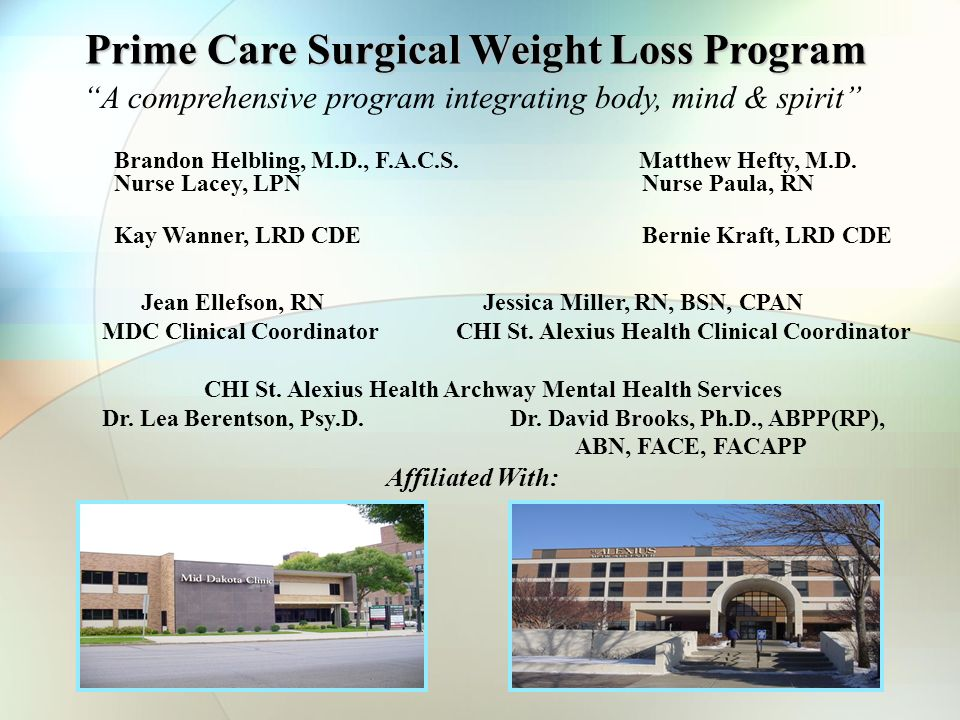 Prime Care Surgical Weight Loss Program A Comprehensive Program