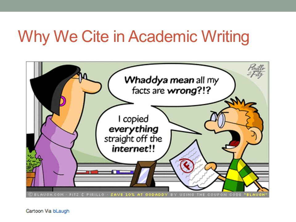 Why We Cite in Academic Writing