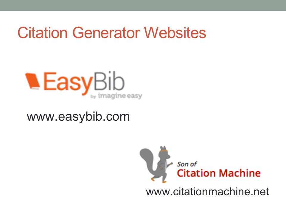 Citation Generator Websites