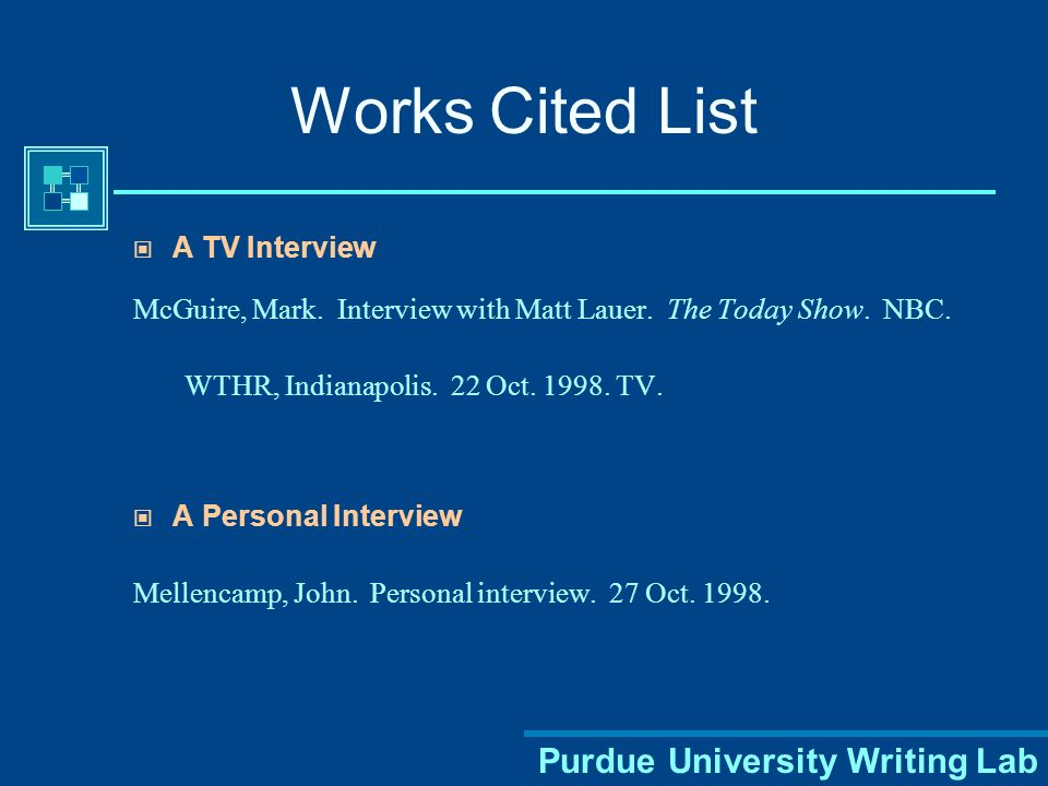 Purdue University Writing Lab Works Cited List A Newspaper Article Tommasini, Anthony.
