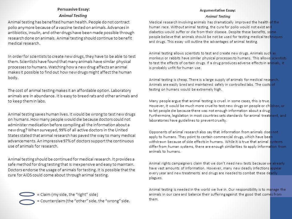 Argumentative Writing What Is Argumentative Writing Writing Used   Persuasive Essay Animal Testing