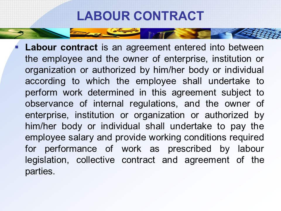 Logo The Collective Agreement The Labour Contract Ppt Download