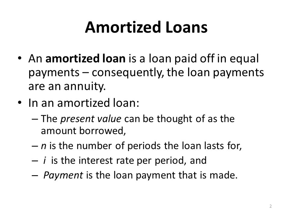 amortized loans an amortized loan is a loan paid off in equal