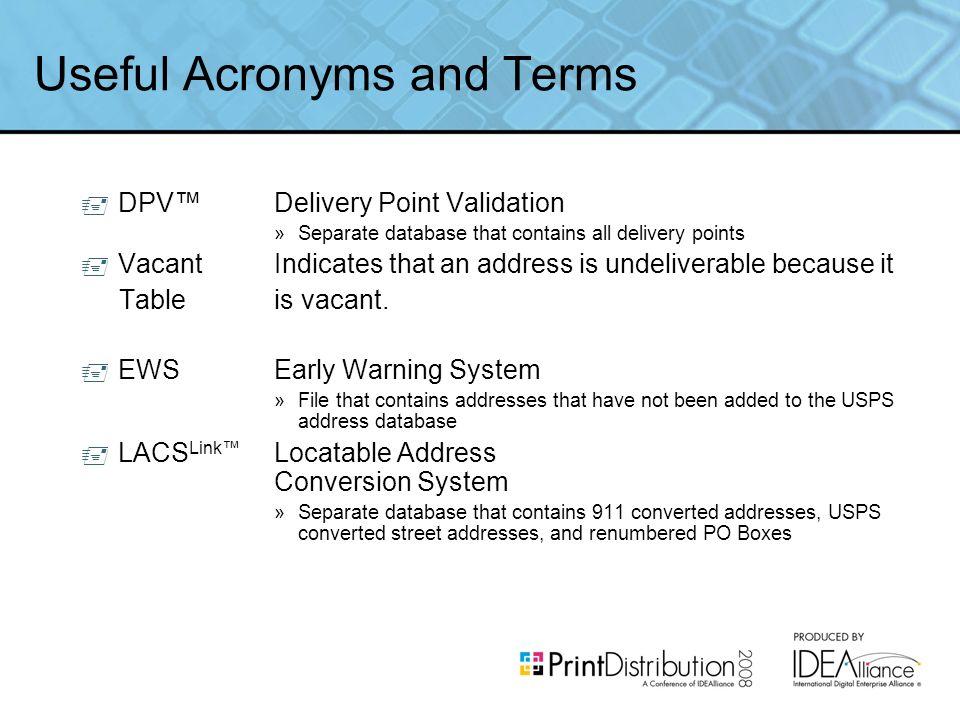 Addressing, Automation & Presort Lloyd M  Moss Senior