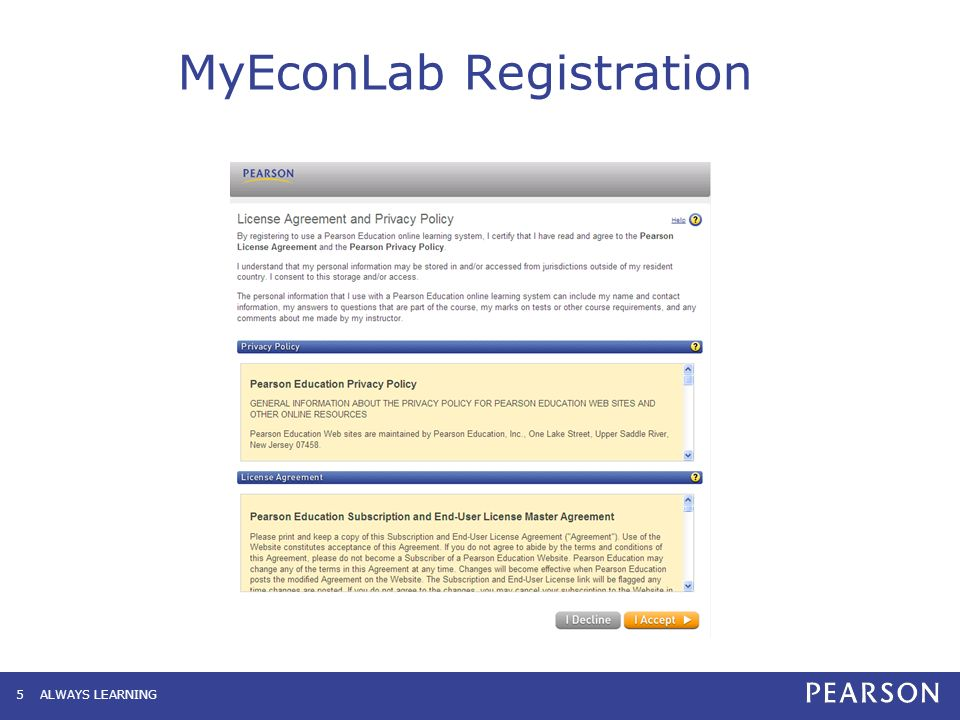 MyEconLab Student User Guide To Ensure A Quick And Easy