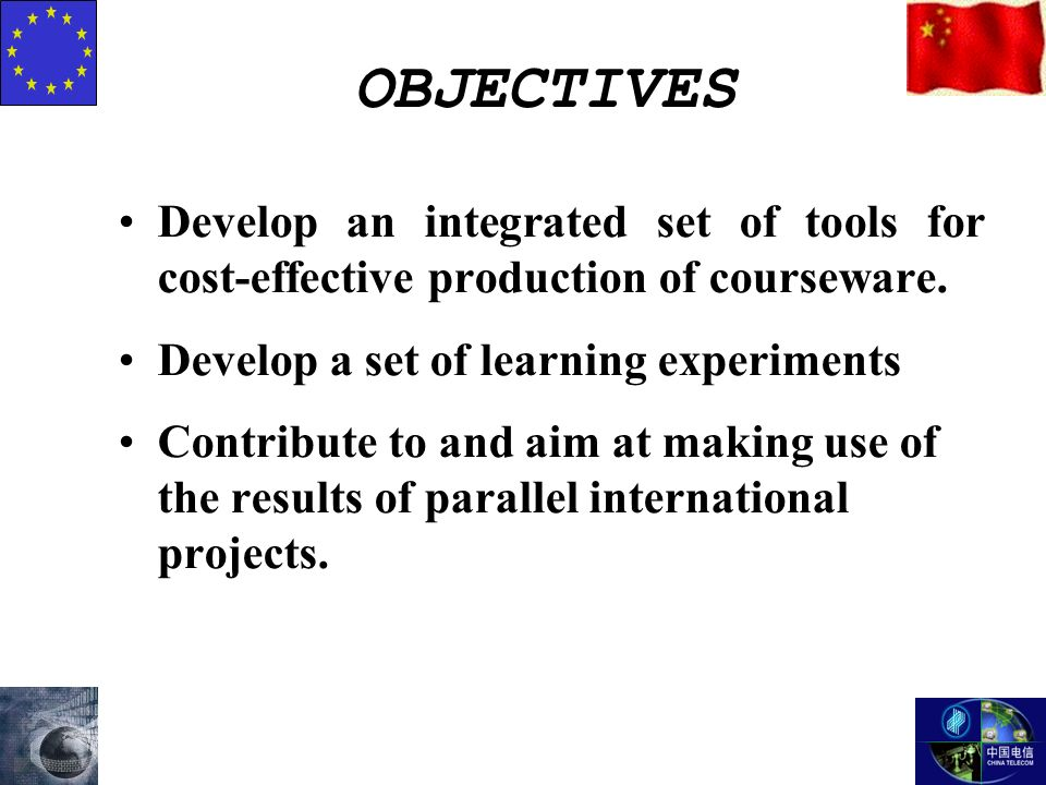 Develop an integrated set of tools for cost-effective production of courseware.
