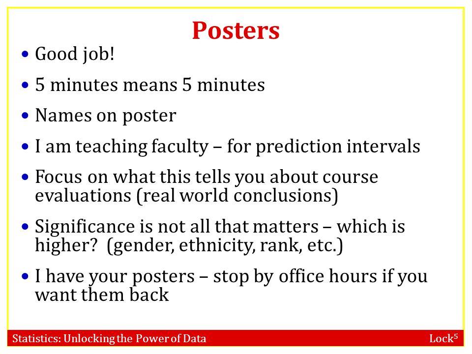 Statistics: Unlocking the Power of Data Lock 5 STAT 101 Dr