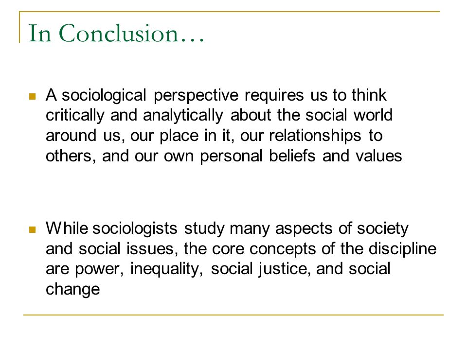 a sociological analysis of myself essay Self-analysis on subject me - my subject of self-analysis is myself i am currently twenty six years old i am a college student that is pursuing a degree in psychology and human service.