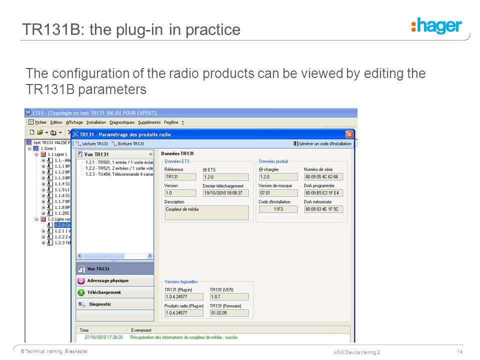 1 © Technical training, Blieskastel KNX/Device training KNX
