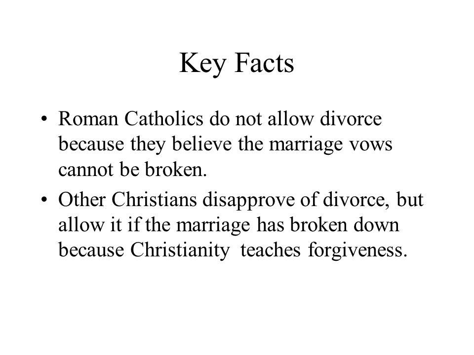 Divorce Do in catholics believe