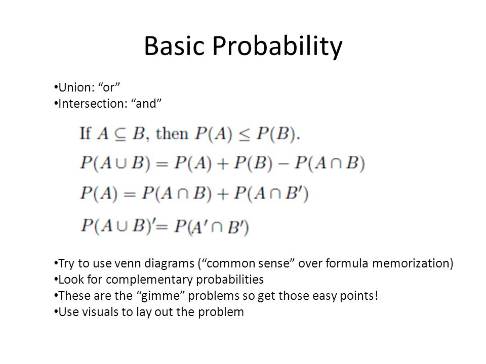 Section 1 Basic Probability Concepts Disclaimer This Is Just A