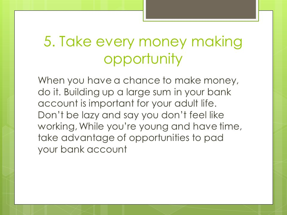 Adult money making opportunity opinion you