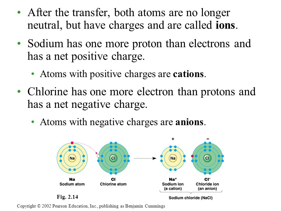 After the transfer, both atoms are no longer neutral, but have charges and are called ions.