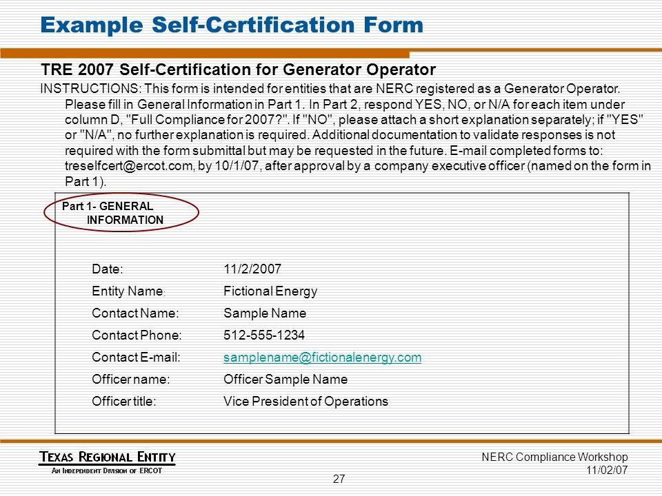 Assessing Compliance 2 Nerc Compliance Workshop 110207