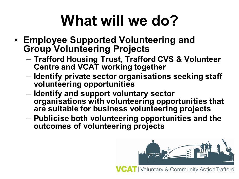 Trafford Volunteer Coordinators' Forum Releasing The