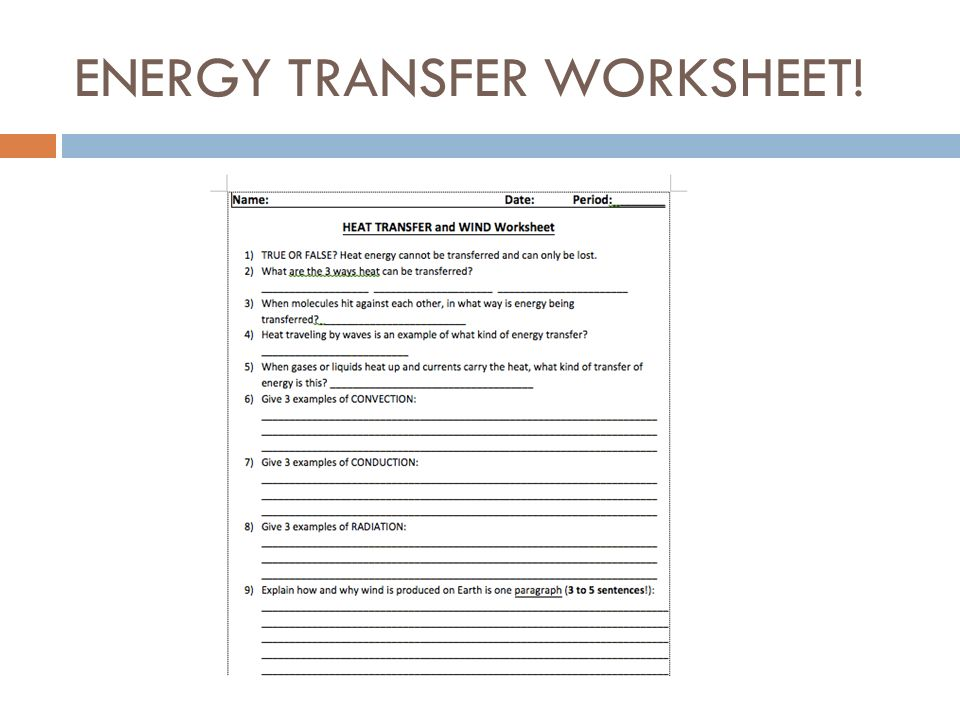 Heat And Energy Transfer And Wind December 4 Ppt Download