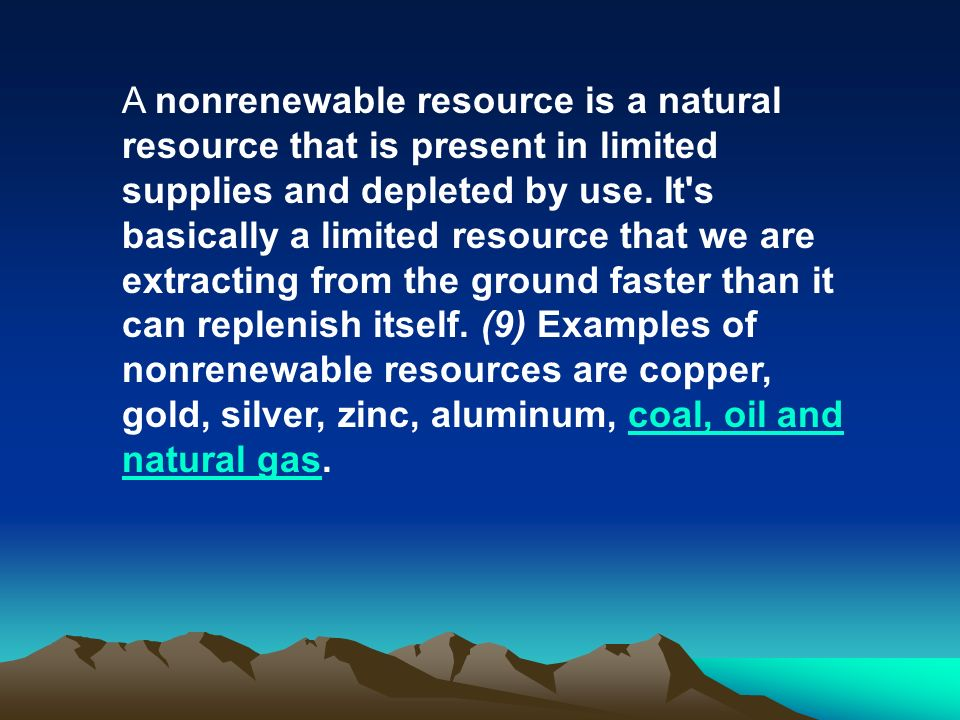 Introduction To Natural Resources Objective By The End Of This