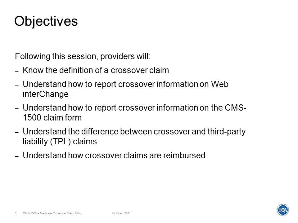 HP Provider Relations October 2011 CMS-1500 – Medicare