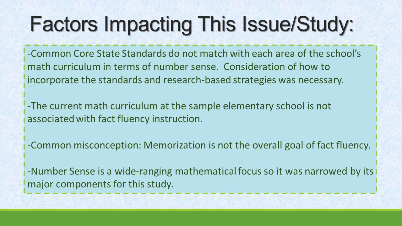 Action Research: Action Research: Effects of Number Sense and Fact ...