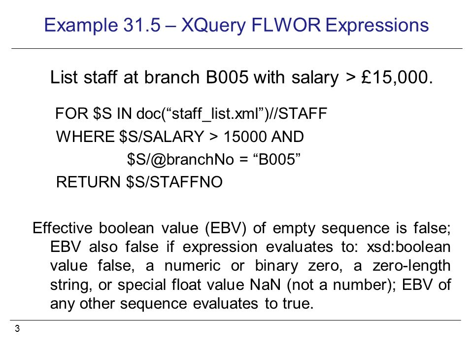 Lecture 22 Xml Querying 2 Example 315 Xquery Flwor Expressions