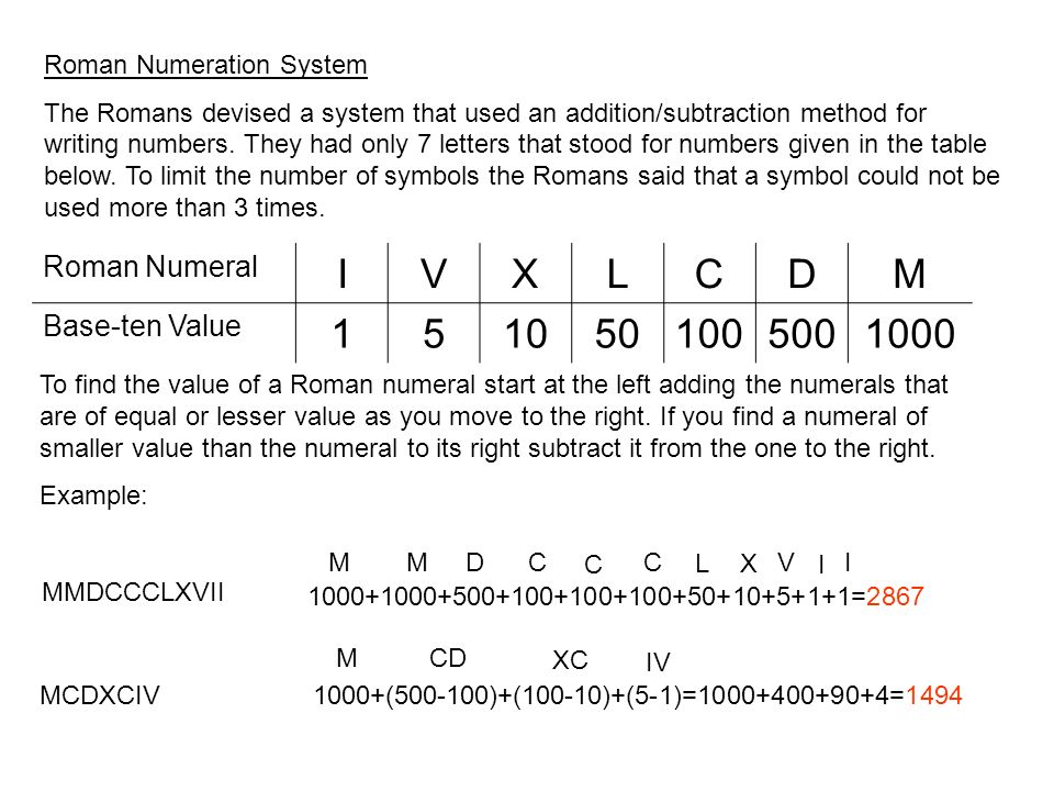 Chapter 3 Whole Numbers Section 31 Numeration Systems Ppt Download
